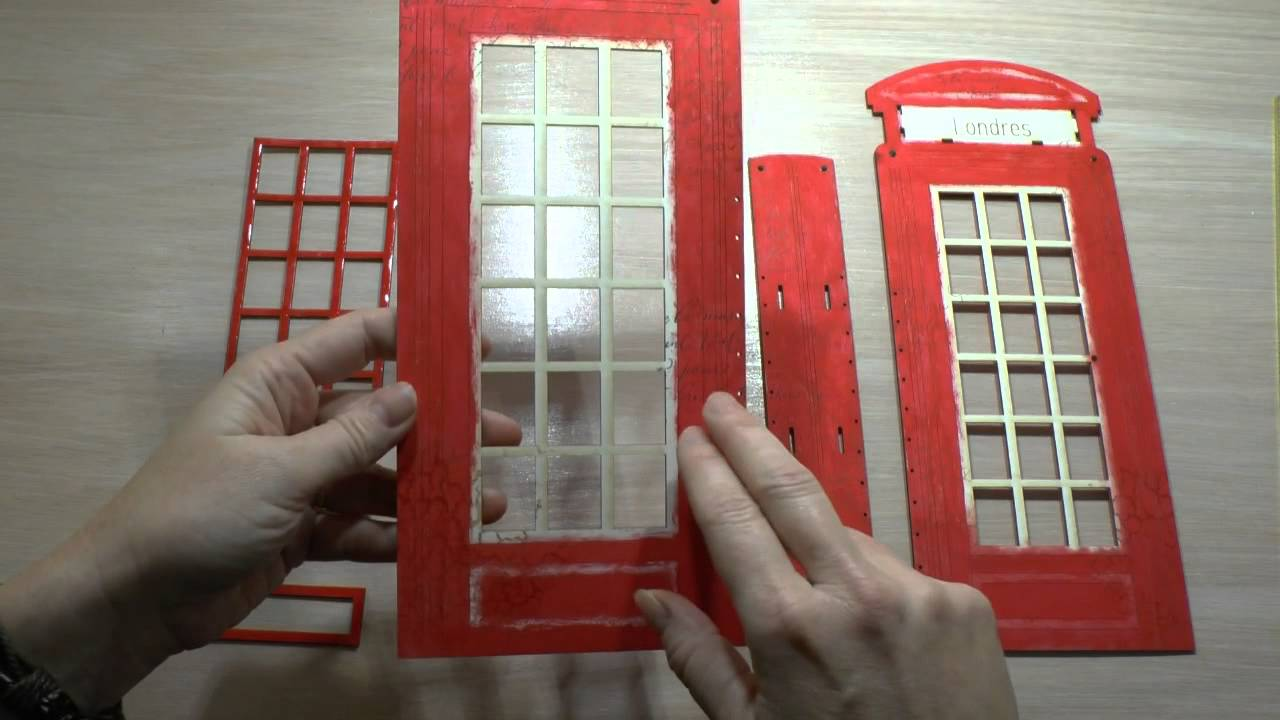 Montage mini album cabine telephonique embelliscrap youtube - Etagere cabine telephonique ...