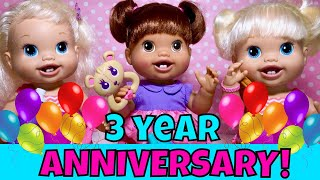 🤩Wow! New Baby Alive Baby's New Teeth Unboxing! Our 3 Year Anniversary On Youtube! How We Started?