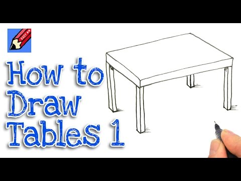 How to draw a dining room