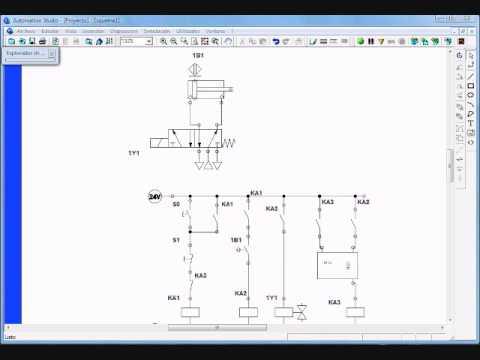 Tutoria simulacion electroneumatica  A+A con contador