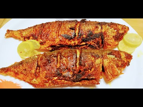 Fish Tawa Fry,,,, Mackarel | Bangude fish masala fry recipe.