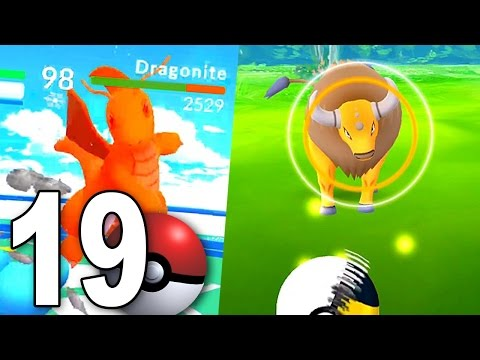 TAUROS HUNTING + Dragonite vs Lapras! - Pokemon GO Part 19