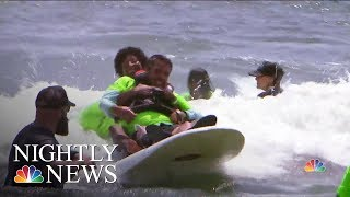 Non-Profit 'Life Rolls On' Helps Athletes With Disabilities Surf And Skate   NBC Nightly News