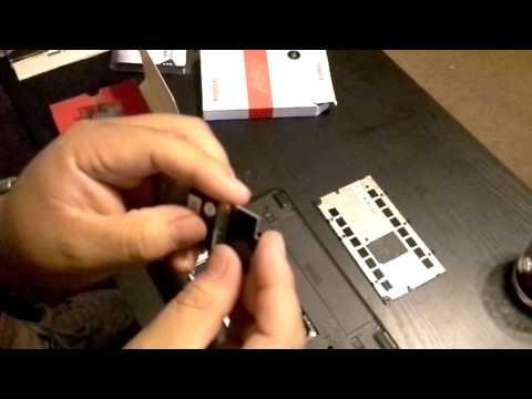 installing a ssd hard drive.