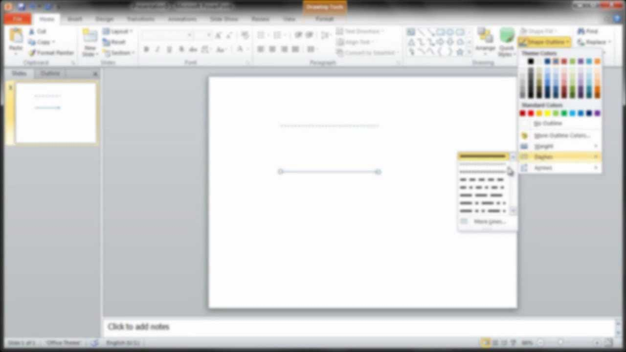 Drawing Lines In Powerpoint : How to draw lines in powerpoint youtube