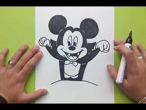 Como dibujar a Mickey Mouse paso a paso 3 - Disney | How to draw Mickey Mouse 3 - Disney