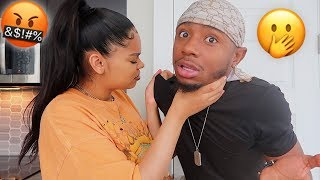 COMING HOME SMELLING LIKE ANOTHER WOMAN PRANK ON PREGNANT GIRLFRIEND!