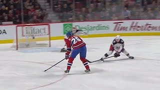 Gotta See It: Blue Jackets' Bobrovsky with incredible blocker save vs. Canadiens