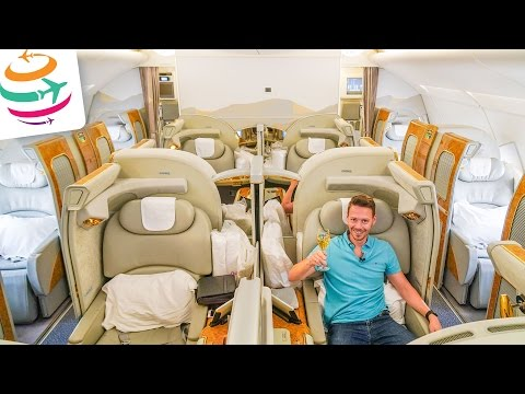 EMIRATES First Class A380 The pure luxury in the sky! | GlobalTraveler.TV