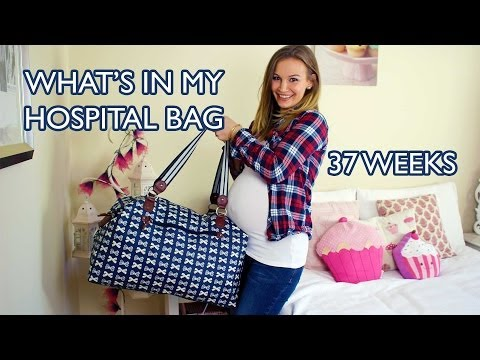 What s In My Hospital Bag - 37 Weeks Pregnant!