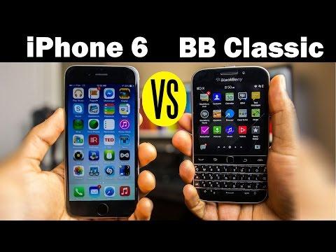 BlackBerry Classic Vs iPhone 6 Full Hands-On Comparison