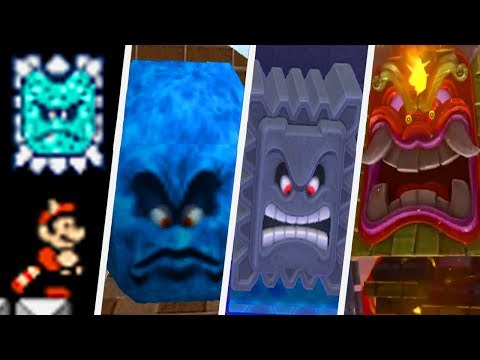 Evolution of Thwomp in Super Mario Games (1988 - 2017)