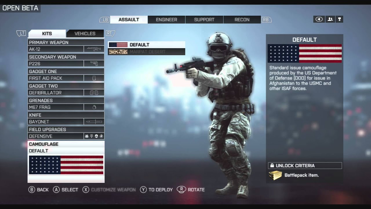 Battlefield Classes Battlefield 4 Create a Class
