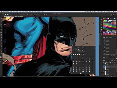 Coloring Superman and Batman - Non-timelapse