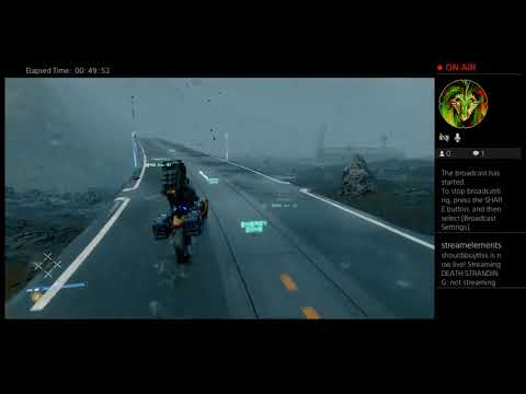 Death Stranding - Road 100% Built - Showing Map and Lap Around the Map