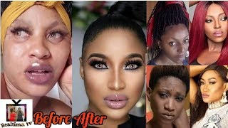 Ghanaian and Nigerian Actresses Before and After Makeup Transformation