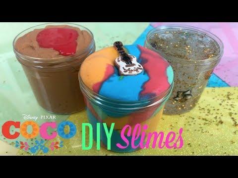 DISNEY?S COCO MOVIE DIY SLIME!!