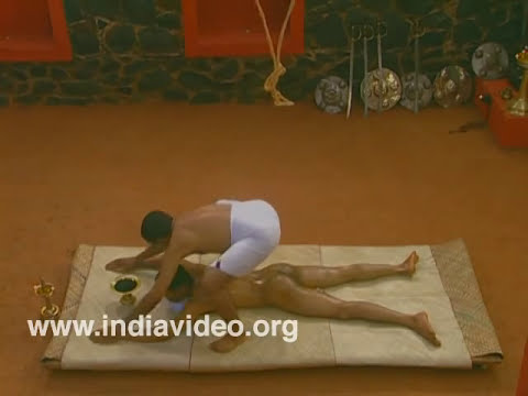 Uzhichil or Body massage in Kalaripayattu
