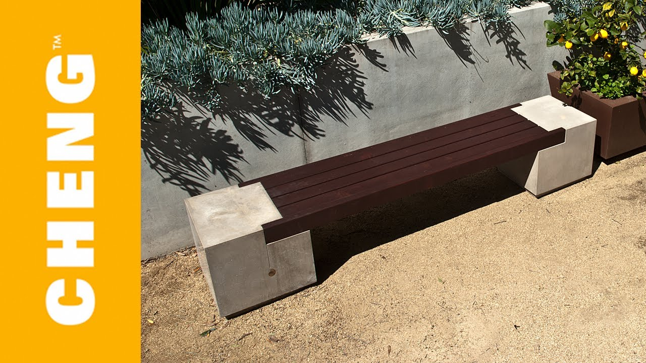 Make A Concrete And Wood Bench With Cheng Outdoor Concrete Mix And 2x4 39 S Youtube