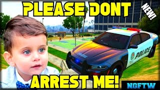 ARRESTING KIDS IN GTA ONLINE WITH POLICE MOD! (GUY CALLS ROCKSTAR!) VOICE TROLLING!