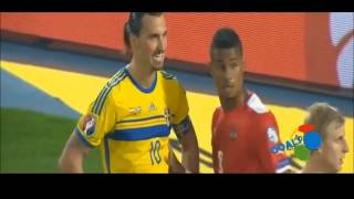 Zlatan Ibrahimović Reaction on Austrian Player Touch Don