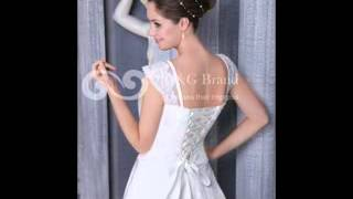 Netted Lace Sleeve Stylish Satin 2013 Wedding Dress At Grandgowns.com