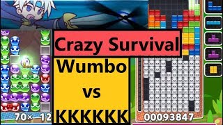 Crazy Survival – Wumbo vs KKKKKK – Expert Tetris vs Puyo (Switch)
