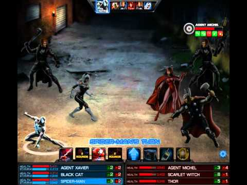 Marvel Avengers Alliance - Black Cat & Spiderman new uniform test
