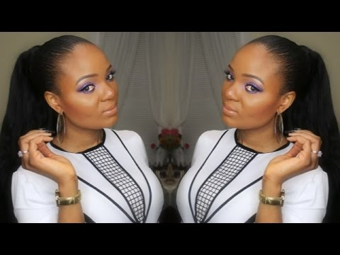 Get Ready With Me   Purple Raine (MAKEUP)