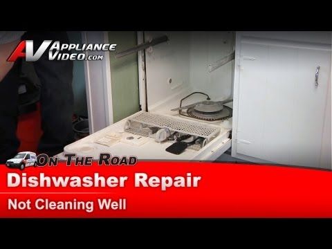 Dishwasher Repair & diagnostic  - Not cleaning well - Whirlpool. Maytag. Sears  DU1100XTPQ1