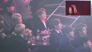 repost seoul music award 2017 BTS EXO reaction to BLACKPINK