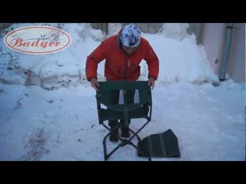 Как сделать стул для зимней рыбалки видео