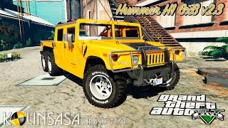 GTA 5 Crash test - Hummer H1 6x6 v2.3
