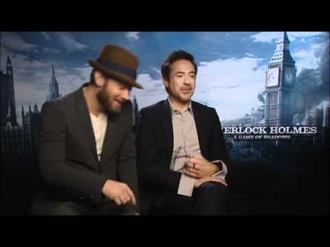 Sherlock Holmes Game of Shadows Press Interview ~ Law & Downey