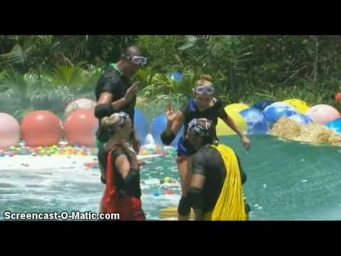 Ashley Roberts does the Celebrity Cyclone Trial - I'm A Celebrity...Get Me Out Of Here UK 2012