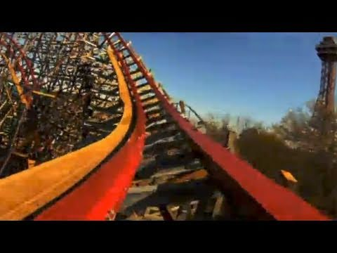 Follow us on Twitter http://www.twitter.com/themeparkreview and Facebook http://www.facebook.com/themeparkreview - New Texas Giant REAL POV Six Flags Over Te...