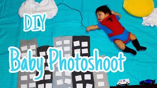 Baby Photoshoot ideas en casa DIY