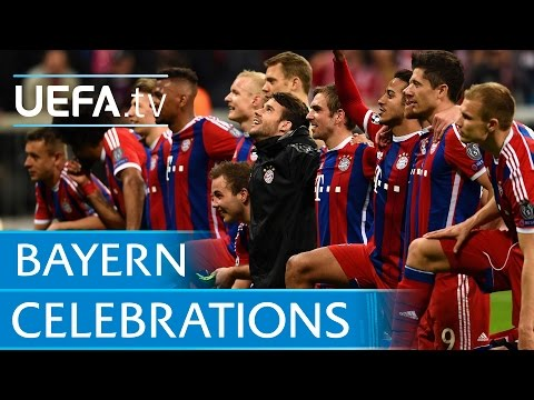 Thomas Müller leads the Bayern celebrations