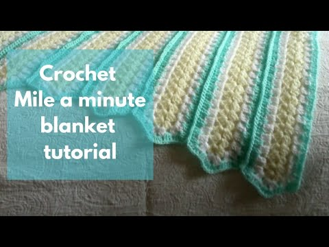 Crochet Afghan Patterns Youtube : Mile a Minute Crochet Tutorial - YouTube
