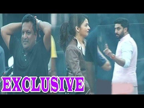 Aishwarya Rai Bachchan, Abhishek Bachchan, and Sanjay Gupta captured shooting for 'Jazbaa' Movie