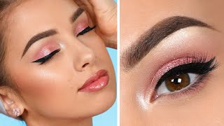 EASY Pink Smokey Eye Makeup Tutorial