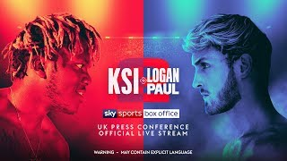 KSI vs. Logan Paul 2 UK Press Conference (Official Live Stream)