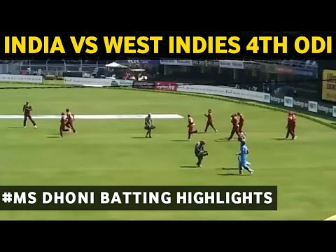 india vs west indies 4th odi highlights 2018 | Ms dhoni batting | Rohit sharma entry &man of match |