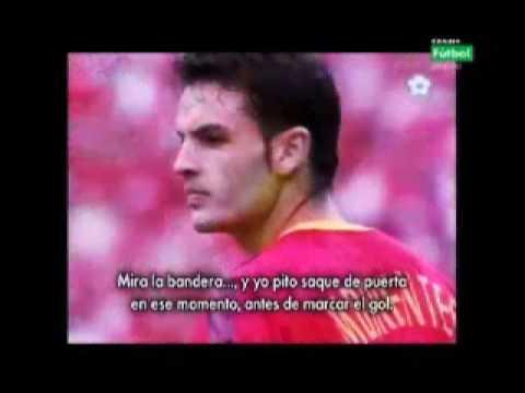 Imagenes del partido que enfrento a la seleccion española contra la de korea del sur, en el mundial de korea y japon del año 2002, el cual los arbitros anularon dos goles a españa, e hicieron...