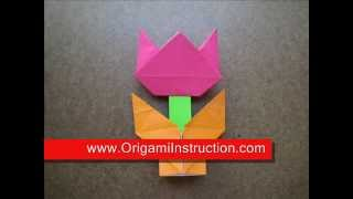 Origami Instructions Origami Tulip