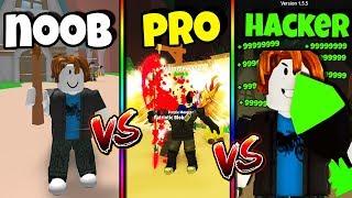 NOOB vs PRO vs HACKER | Mining Simulator Version *FUNNY* (Roblox)