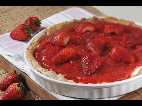 Pay de fresas con queso crema - Strawberry Pie with Cream Cheese
