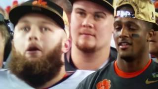 Clemson Tigers 2017 National Football Champions Award ceremony