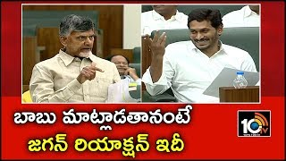 బాబు మాట్లాడతానంటే జగన్ రియాక్షన్ ఇదీ | CM Jagan Reaction When Chandrababu Speak in Assembly