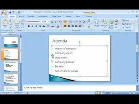 How to use Microsoft office Power Point 2007